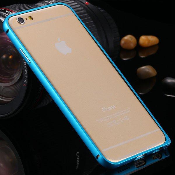 6+ Metal Case Slim Aluminum Frame Cover For Iphone 6 Plus 5.5Inch  32251488179-3-blue