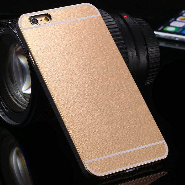 Brandnew Aluminum Metal Brush Back Cover For Iphone 6 4.7'' Slim P 2053374569-5-light gold