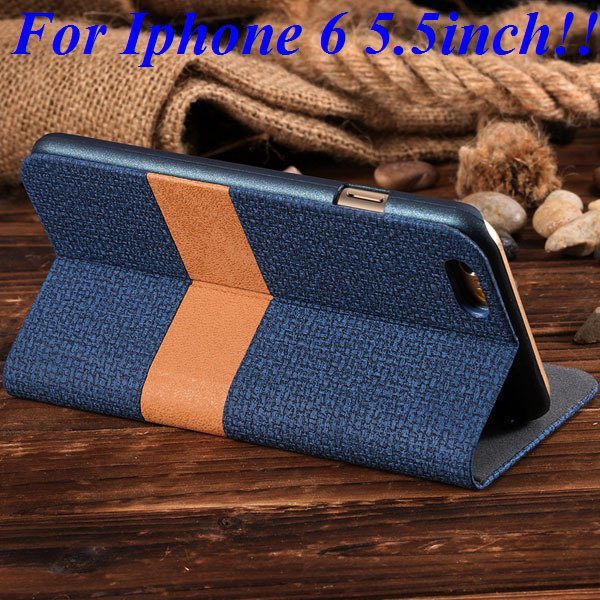I6/6 Plus Luxury Original Brand Pu Leather Case For Iphone 6 4.7In 32276577085-8-blue for plus