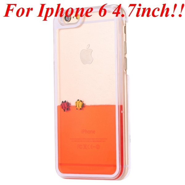 I6/6 Plus Dynamic Flowing Liquid Fish Clear Case For Iphone 6 4.7I 32277567848-1-orange for iphone 6