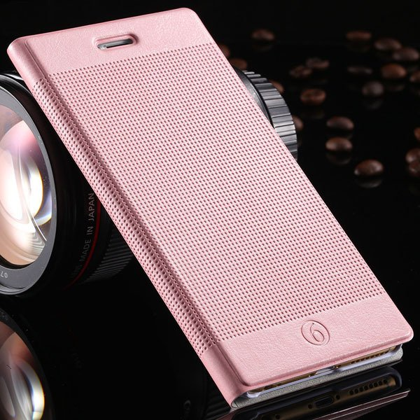 Popular Grid Structure Flip Wallet Shell For Iphone 6 Plus 5.5Inch 32214571519-9-pink