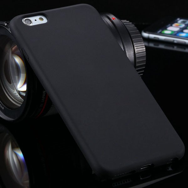 Ultra Soft Silicone Cover For Iphone 6 Plus 5.5Inch Back Phone Cas 2053450499-1-black
