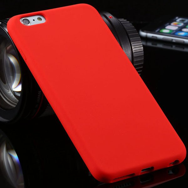 Ultra Soft Silicone Cover For Iphone 6 Plus 5.5Inch Back Phone Cas 2053450499-5-red