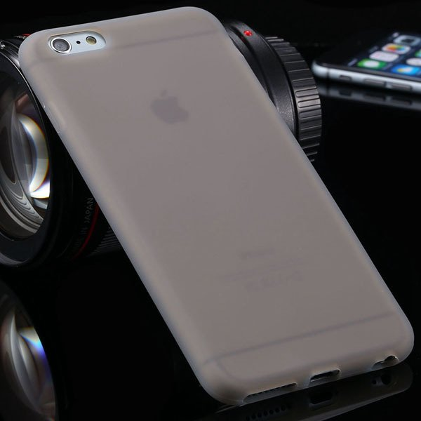 Ultra Soft Silicone Cover For Iphone 6 Plus 5.5Inch Back Phone Cas 2053450499-9-gray