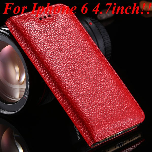 I6/6Plus Genuine Leather Case For Iphone 6 4.7Inch Full Protect Co 32236491521-9-red for iphone 6