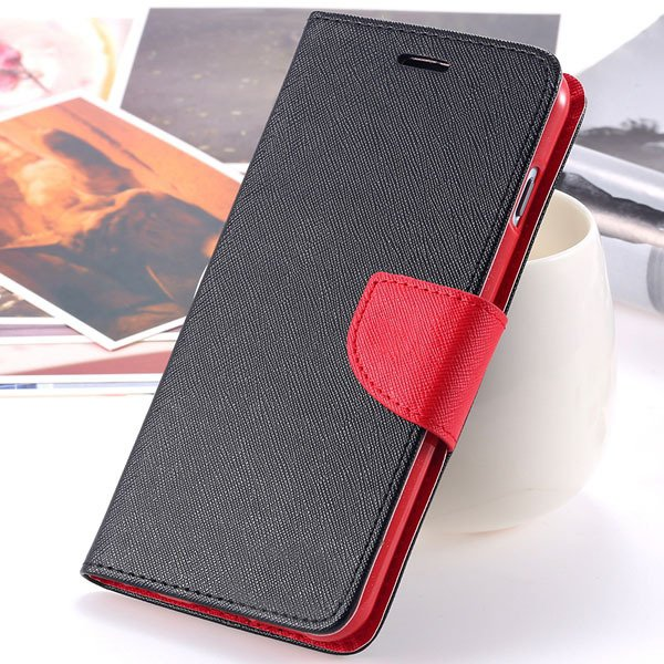New Pu Leather Full Cover For Iphone 6 4.7 Inch Flip Phone Housing 2052907542-4-black red