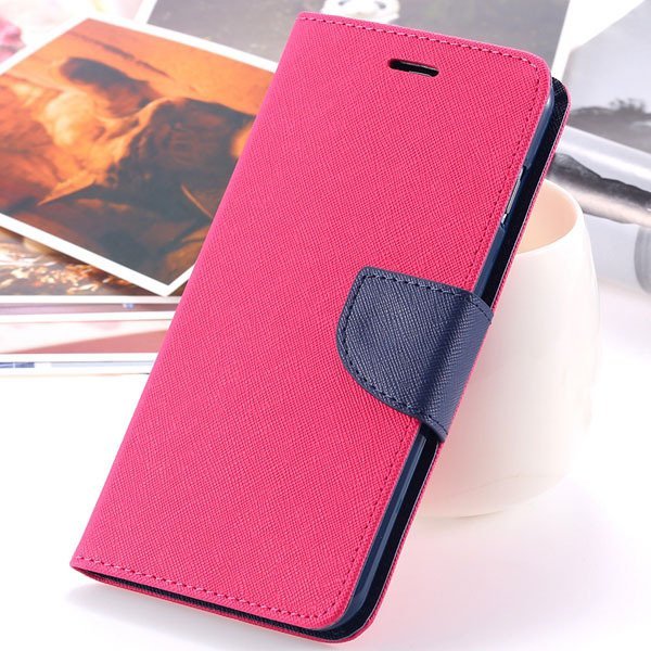 New Pu Leather Full Cover For Iphone 6 4.7 Inch Flip Phone Housing 2052907542-11-hot pink