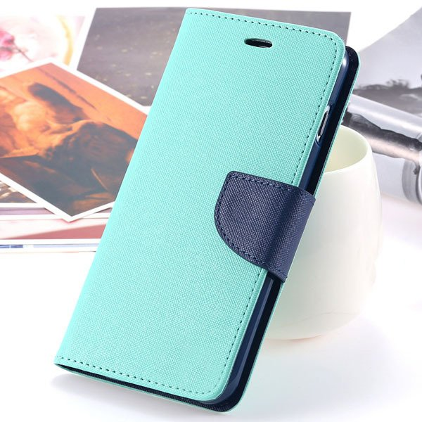 New Pu Leather Full Cover For Iphone 6 4.7 Inch Flip Phone Housing 2052907542-12-mint