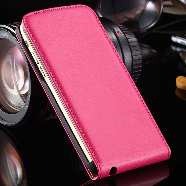 For Iphone 6 Flip Case Genuine Leather Cover For Iphone 6 4.7Inch  32221034920-4-hot pink