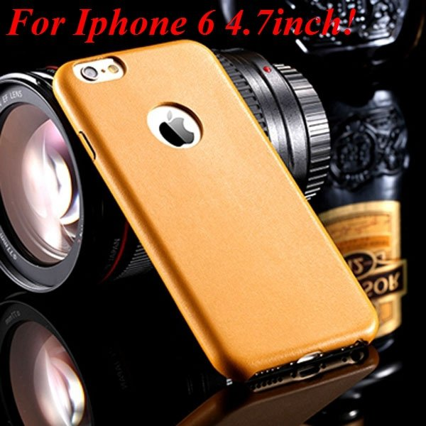 I6 Slim Case Original Ultra Thin Pu Leather Cover For Iphone 6 4.7 32261009616-2-yellow for iphone 6