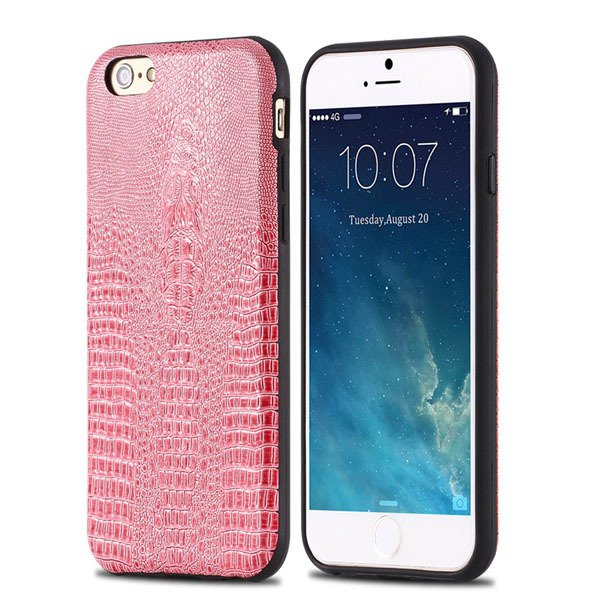 High-End Pu Leather Back Cover For Iphone 6 4.7Inch Cell Phone Bag 32237504954-3-pink
