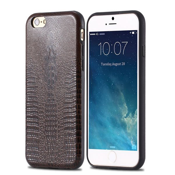 High-End Pu Leather Back Cover For Iphone 6 4.7Inch Cell Phone Bag 32237504954-4-deep brown