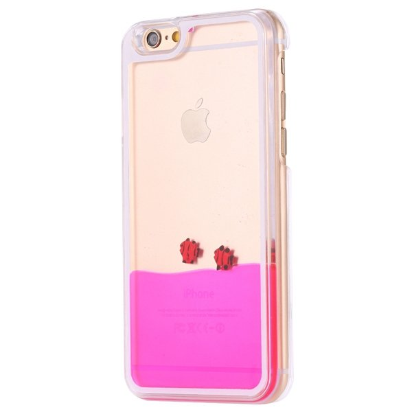 I6 Dynamic Quicksand Back Case Clear Cover Flow With Liquid Fish F 32277186221-8-fish rose