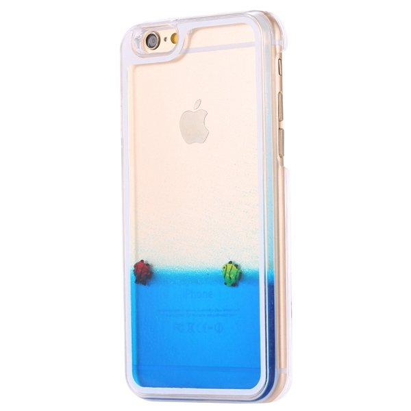 I6 Dynamic Quicksand Back Case Clear Cover Flow With Liquid Fish F 32277186221-9-fish blue