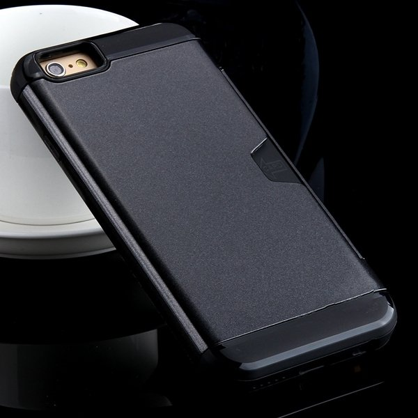 I6 Armor Case Kickstand Back Cover With Card Insert For Iphone 6 4 32276704480-3-black