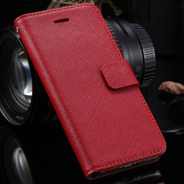 High-End Genuine Leather Wallet Case For Iphone 6 4.7'' Phone Cove 2041430601-3-red