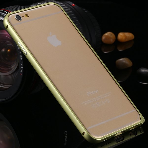 I6 Metal Frame Case Aluminum Cover For Iphone 6 4.7Inch Slim Back  2055175192-5-shiny yellow