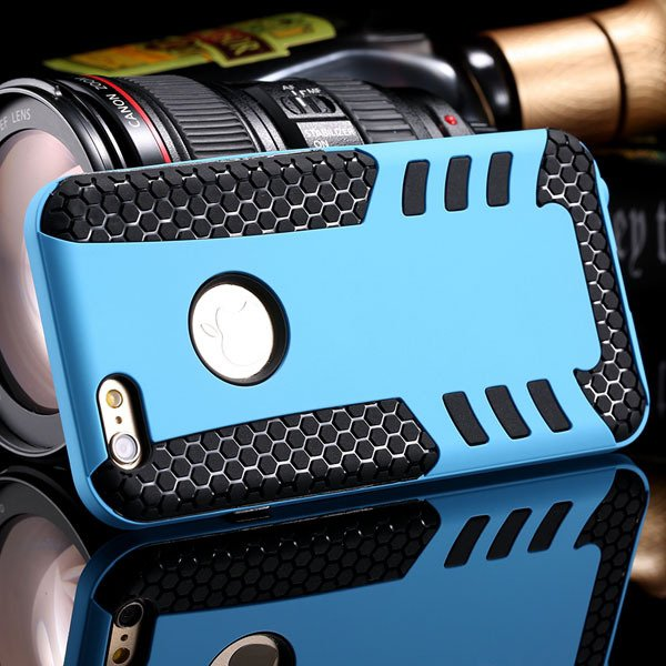 Anti-Knock Rocket Back Case For Iphone 6 4.7Inch Hard Pc Frame + S 32249540997-1-sky blue