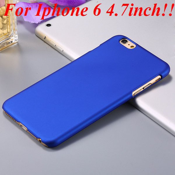 I6/6 Plus Slim Case Mat Lubricating Smooth Back Cover For Iphone 6 32281037773-8-blue for iphone 6