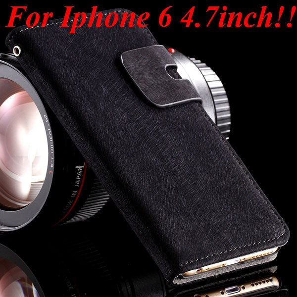 I6 Flip Case Luxury Smooth Pu Leather Cover For Iphone 6 4.7Inch F 32235574059-1-black