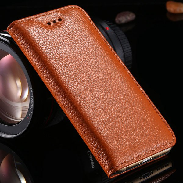 I6 Plus Genuine Leather Case For Iphone 6 Plus 5.5Inch Mobile Phon 32236429737-3-brown
