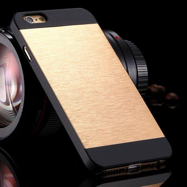 I6 Plus Aluminum Metal Brush Hard Cover For Iphone 6 Plus 5.5Inch  32231722508-4-light gold