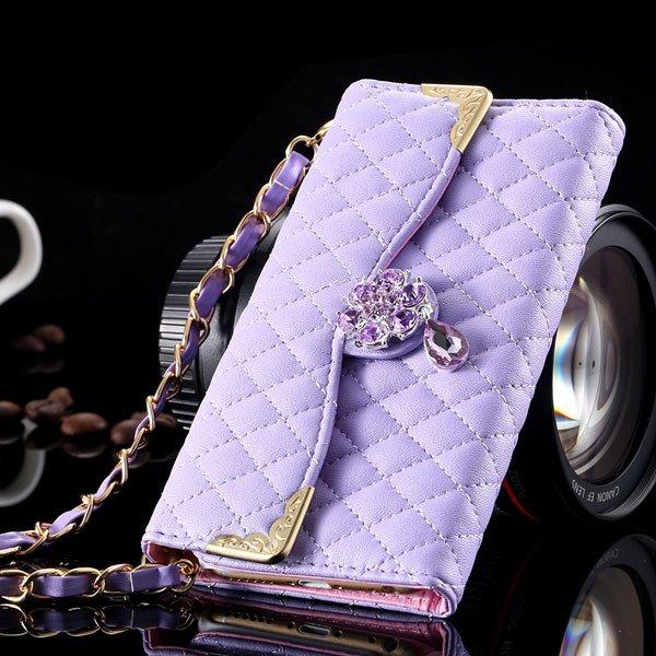 Luxury Crystal Diamond Full Flip Pu Leather Cover For Iphone 6 4.7 32223328318-4-light purple