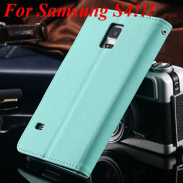 Flip Full Pu Leather Cover Case For Samsung Galaxy S5 I9600 S4 I95 1778570122-8-mint for s4