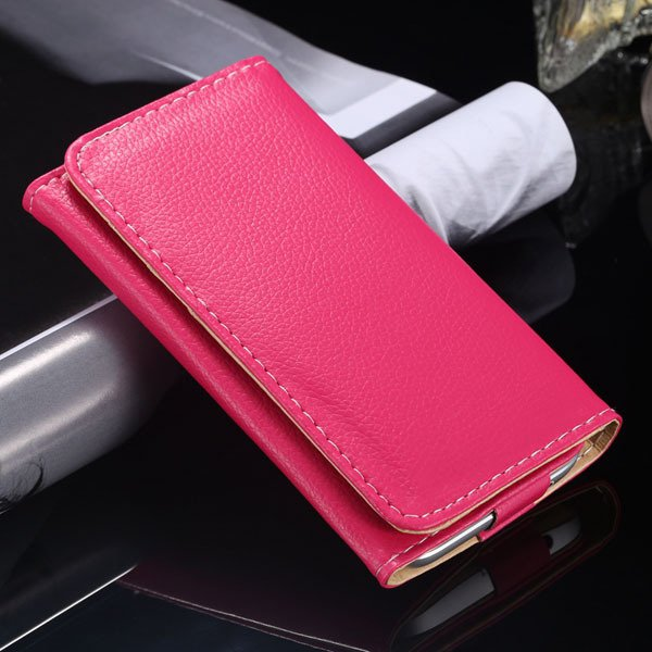 Multifunction Litchi Grain Case For Samsung Galaxy S5 S4 S3 For Ip 1869037687-6-hot pink