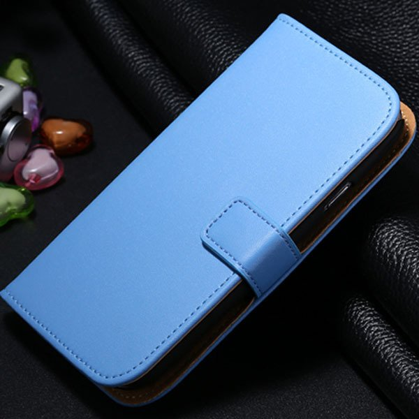 S3 Genuine Leather Case Flip Wallet Cover For Samsung Galaxy S3 Si 1772136100-4-blue