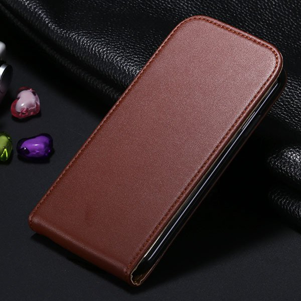 S4 Flip Genuine Leather Case Full Cover For Samsung Galaxy S4 Siv  1790450925-8-brown