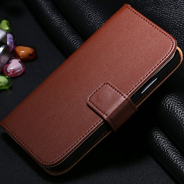 S4 Genuine Leather Case Flip Wallet Cover For Samsung Galaxy S4 Si 1772230456-6-brown