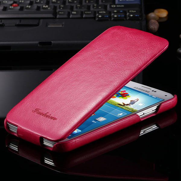 S5 Pu Leather Case Retro Flip Cover With Magnetic Buckle For Samsu 2024373909-5-hot pink
