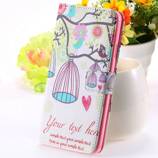 Matte Grain Full Wallet Pu Leather Case For Samsung Galaxy Note 3  1925879807-4-bird cage