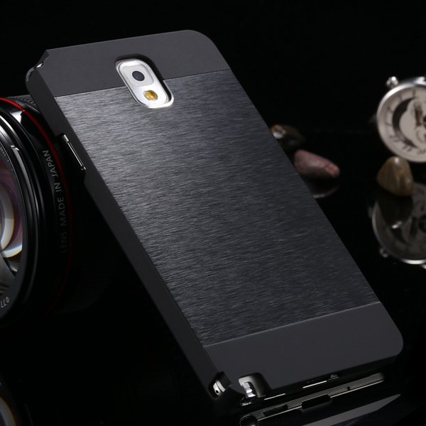 For Note 3 Aluminum Metal Brush Case For Samsung Galaxy Note 3 Iii 1893254282-6-all black