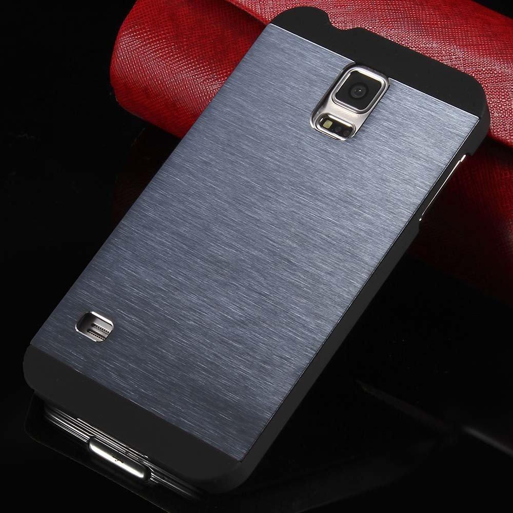 S5 Deluxe Slim Case Aluminum Metal Brush Back Cover For Samsung Ga 32251030854-3-navy
