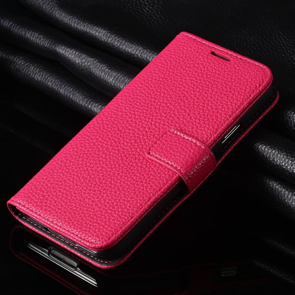 New Flip Case For Samsung Galaxy S5 Siv I9600 Pu Leather Cover Lit 1851217980-4-hot pink