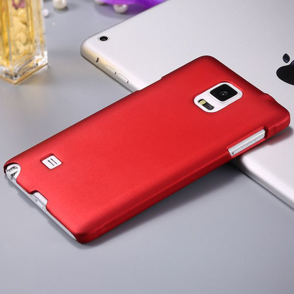 Note 4 Luxury Back Case Lubricating Smooth Hard Pc Cover For Samsu 32282032233-2-red