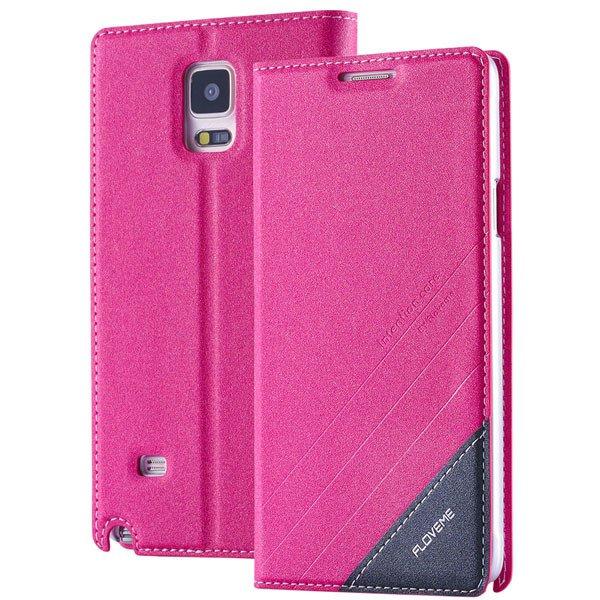 For Note 4 Wallet Case Original Magnetic Flip Cover For Samsung Ga 32266848553-3-hot pink