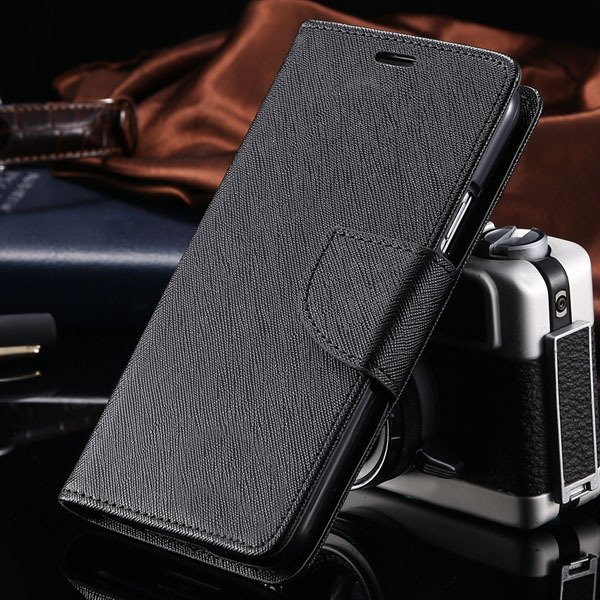 S6 Luxury Pu Leather Case Wallet Book Cover For Samsung Galaxy S6  32301691284-6-all black
