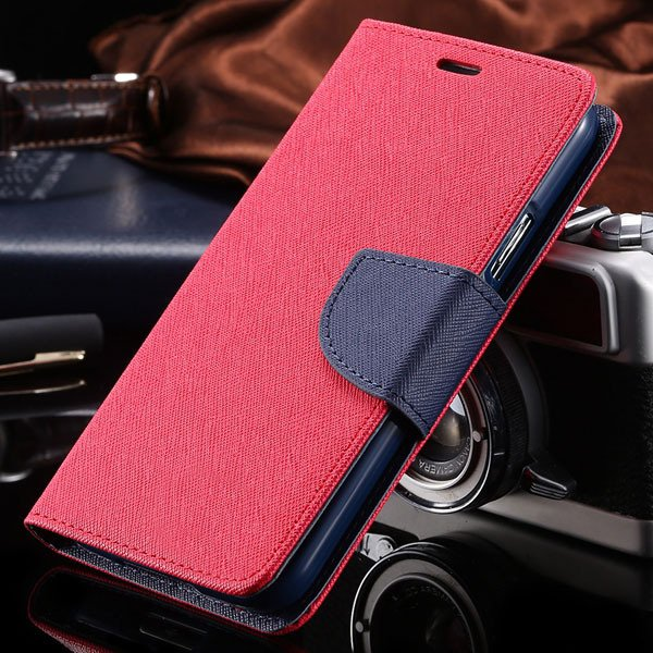 S6 Luxury Pu Leather Case Wallet Book Cover For Samsung Galaxy S6  32301691284-8-red