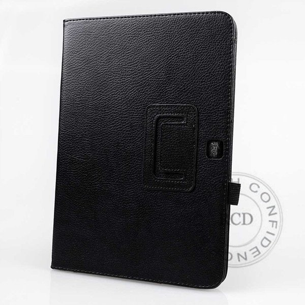 For Samsung Tab 3 Pu Leather Case Flip Wallet Cover Full Body Prot 1138274905-1-Black