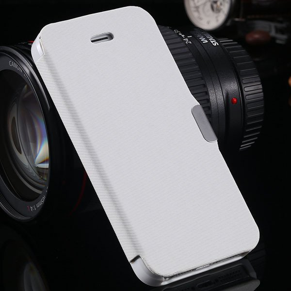 5S Magnetic Wallet Book Case Flip Pu Leather Cover For Iphone 5 5S 1057199030-2-white