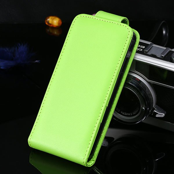 5S Flip Case Pu Leather Cover For Iphone 5 5S 5G Vertical Full Cov 1850210035-5-green