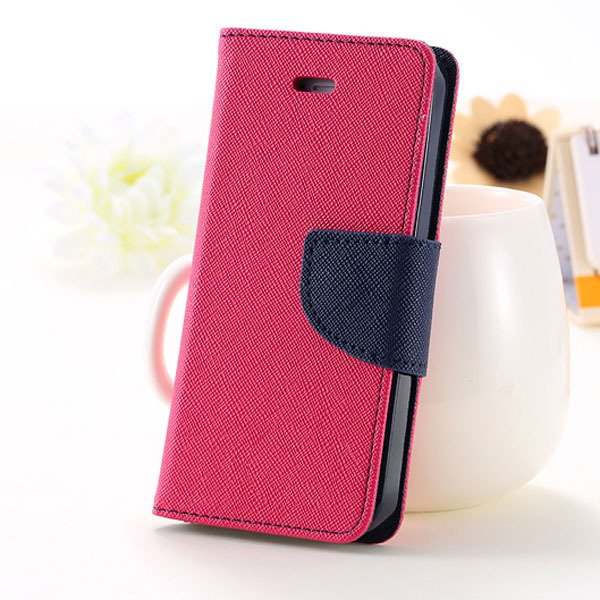 5C Case Wallet Book Style Full Case For Iphone 5C Colorful Flip Pu 1774245439-5-hot pink