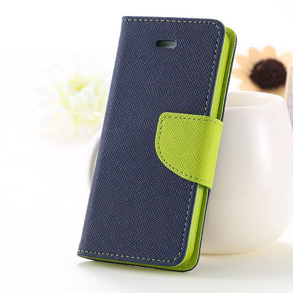5C Case Wallet Book Style Full Case For Iphone 5C Colorful Flip Pu 1774245439-8-deep blue
