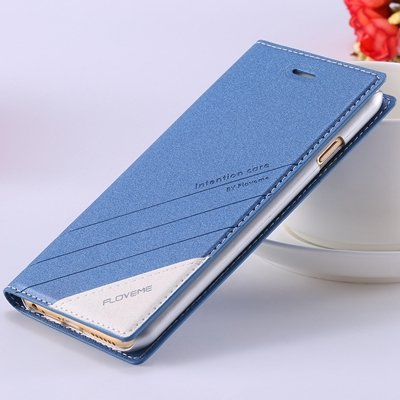 5S Magnetic Flip Case Original Pu Leather Cover For Iphone 5 5S 5G 32267505715-2-blue