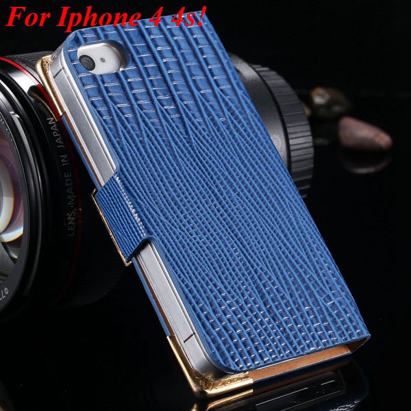 4S 5S Diamond Leather Case For Iphone 5 5S 5G 4 4S 4G Flip Wallet  1892017068-10-blue for 4s