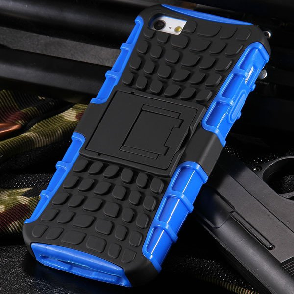 5S Heavy Duty Armor Case For Iphone 5 5S 5G Dual Protect Hybrid Ba 32303987983-4-blue