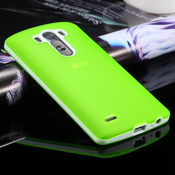 G3 Soft Tpu Combo Case For Lg G3 Cover For D858 D859 Plastic Back  2024340846-8-green